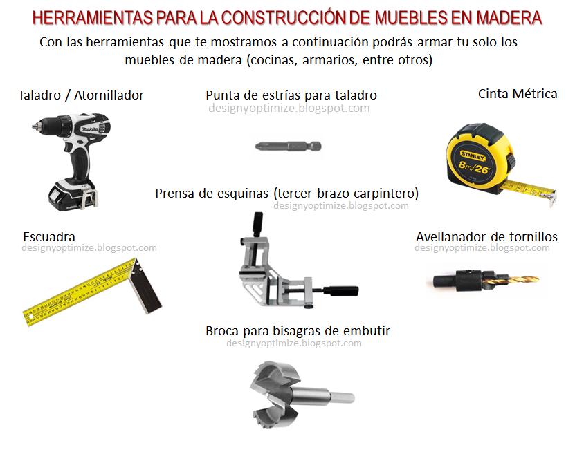 Dise o de muebles madera qu herramientas usar en - Materiales de carpinteria ...