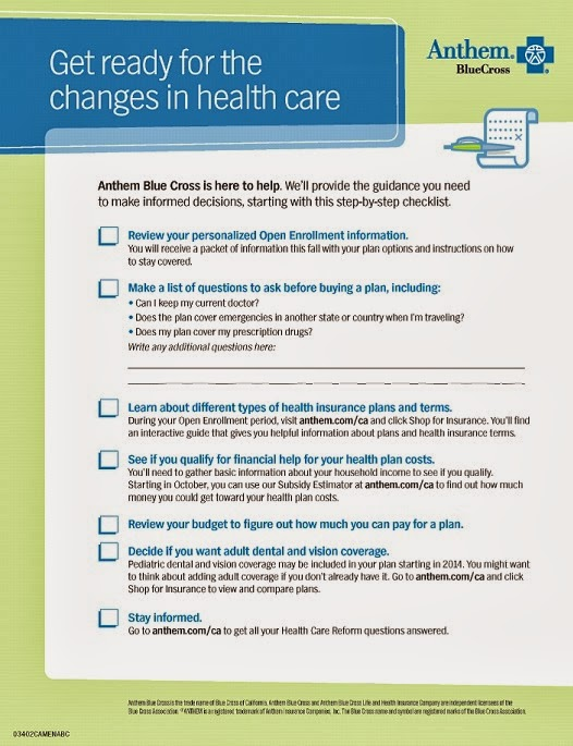 health care family checklist