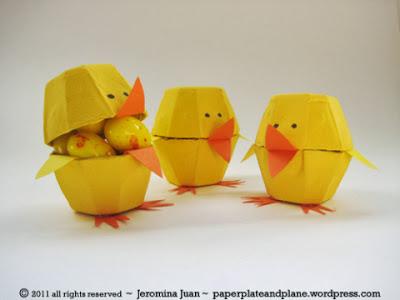http://paperplateandplane.wordpress.com/2011/03/19/easter-egg-carton-chicks/