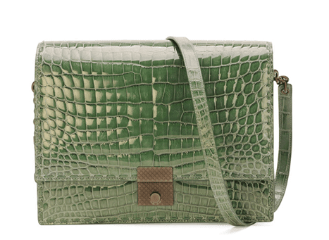 Bottega Veneta Crocodile En Flap Akordeon Omuz Çantası