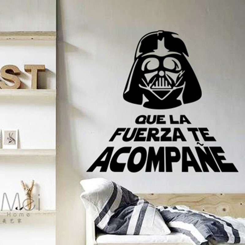 Icono interiorismo decora la pared con vinilos star wars for Decoracion de cuarto star wars