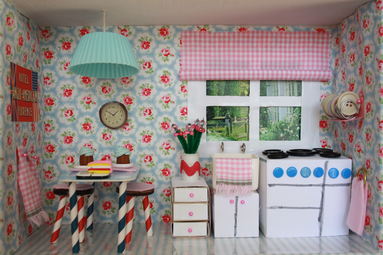 Tales from a happy house a shoebox kitchen for a little for Cath kidston style bedroom ideas
