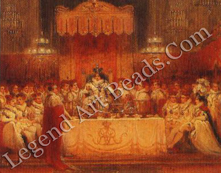 George Jones, The Banquet at the Coronation of George IV 1821 (detail). This painting records the last coronation banquet to be held in Westminster Hall. Today the Sovereign traditionally dines at Buckingham Palace after the coronation.