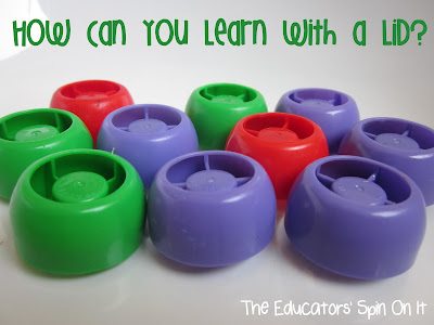 Activities for Kids with Lids from The Educators' Spin On It