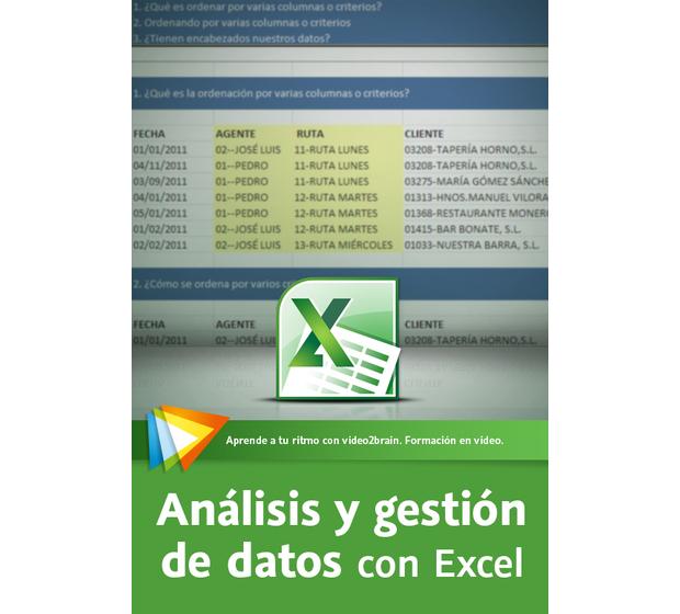 Análisis y gestión de datos con Excel – Video2Brain