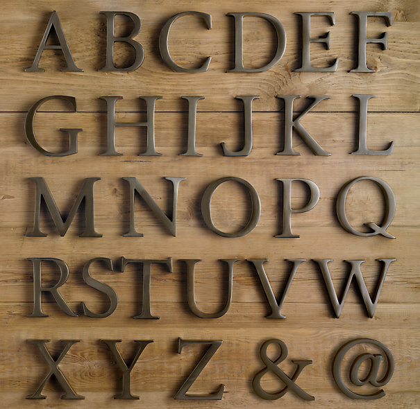 Decorative wall letters metal : Cococozy monogram style large living room letters