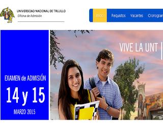 Ingresantes Examen Universidad de Trujillo 2015 II resultados 14 de Marzo