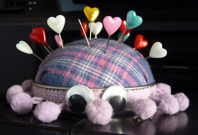 Whoopidooings (Carmen Wing) Mutant Spider Pin Cushion (Easy Peasy to make)