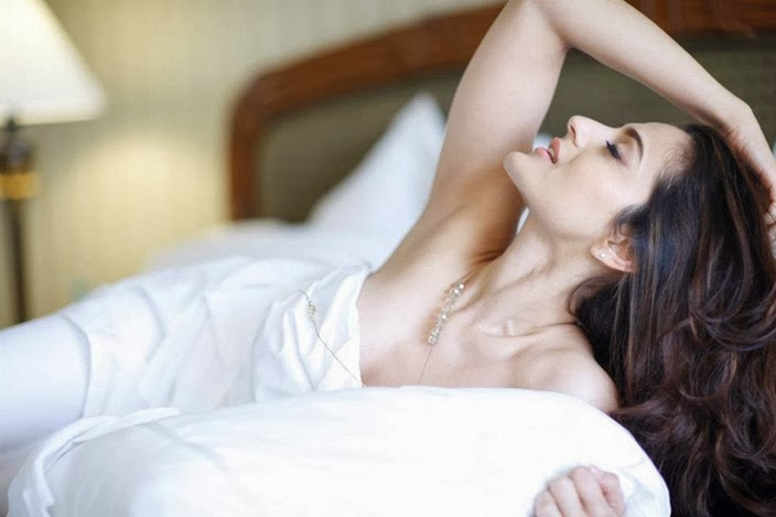 Ameesha Patel nude on bed