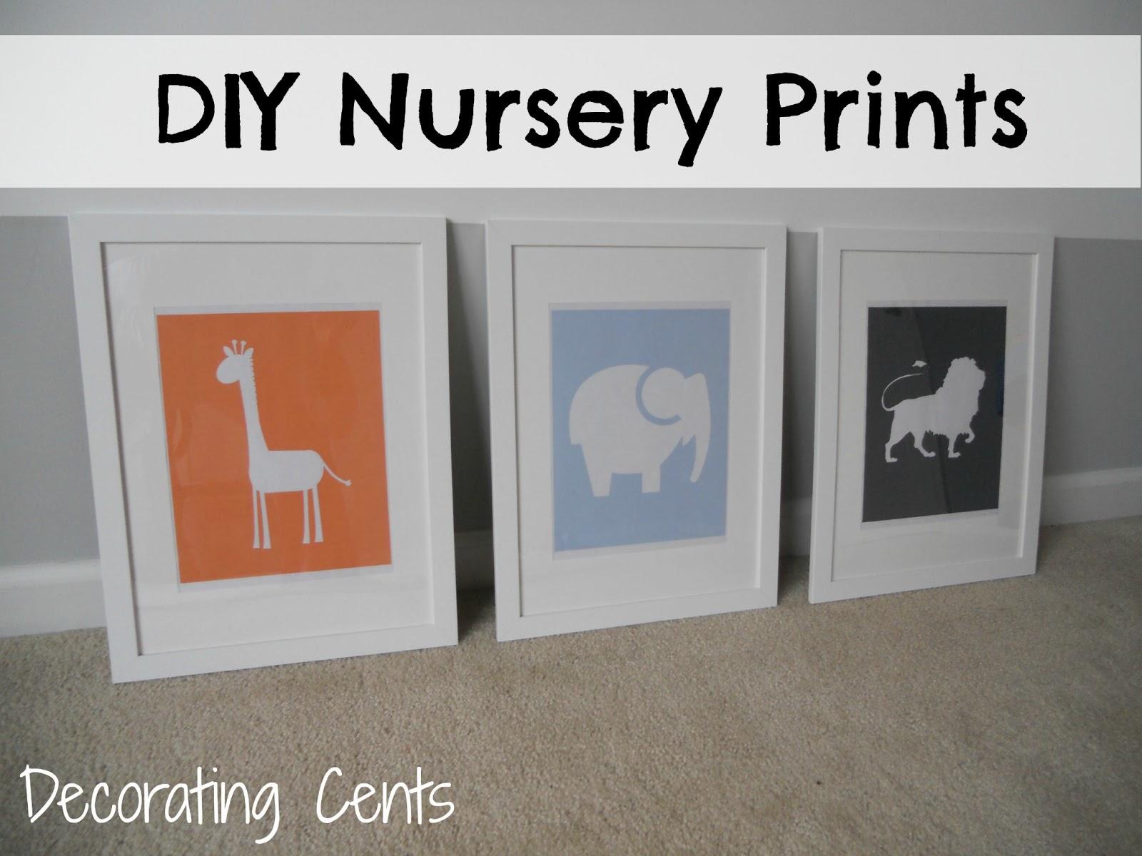 Decorating Cents: DIY Nursery Prints