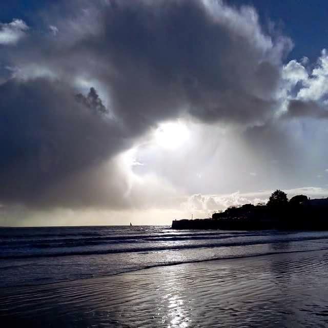 mer soleil plage nuage eclaircie