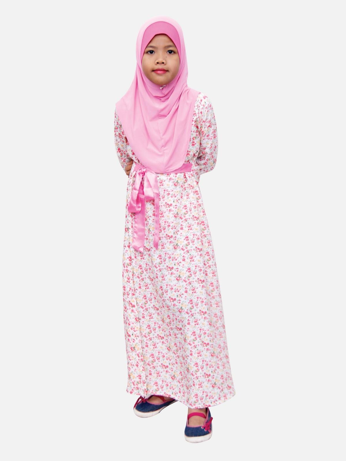 Style dress muslimah kanak kanak