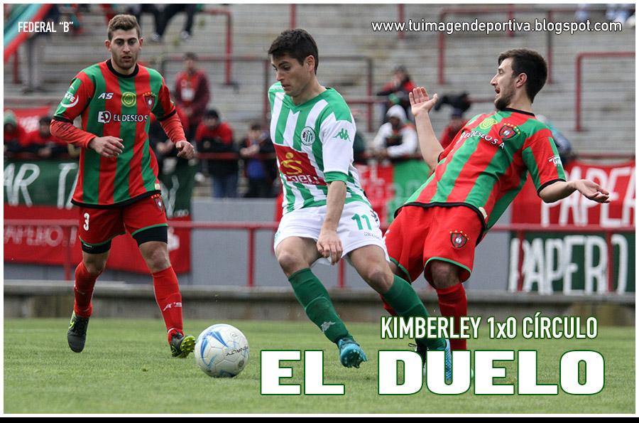 "TORNEO FEDERAL ""B"" . PRIMERA FECHA . KIMBERLEY 1 CÍRCULO DEPORTIVO 0"