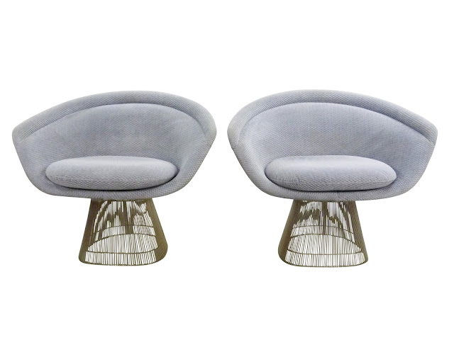 Warren Platner for Knoll Wide Lounge Chairs 1715 Mid-Century Modern
