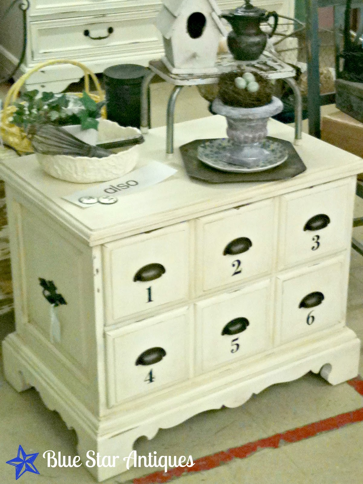 make a nightstand look like a chest