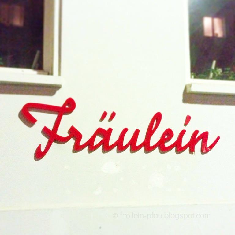Berlin, Fräulein, Frollein, Frl., Schild, Hauswand