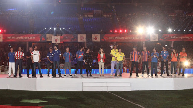 Indian Super League 2015 Opening Ceremony Celebrities hosts HD Images