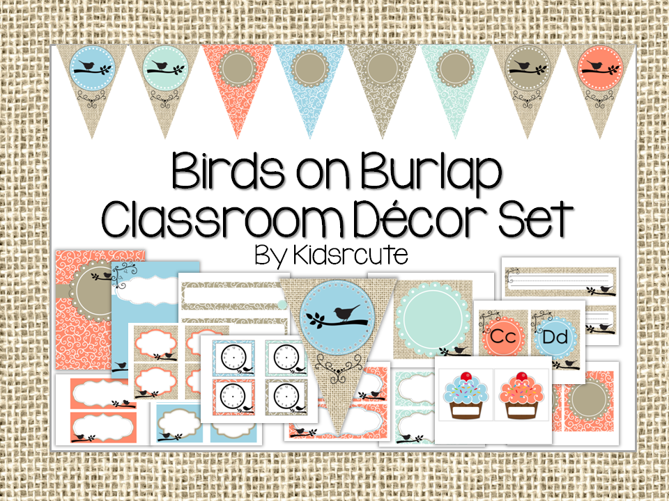 Classroom Decor Sets ~ Kick starting kindergarten back to school sale
