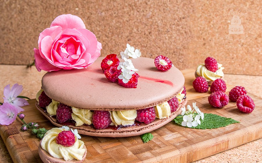 Tablier taché: Chocolate Macaroon Raspberry Fiesta