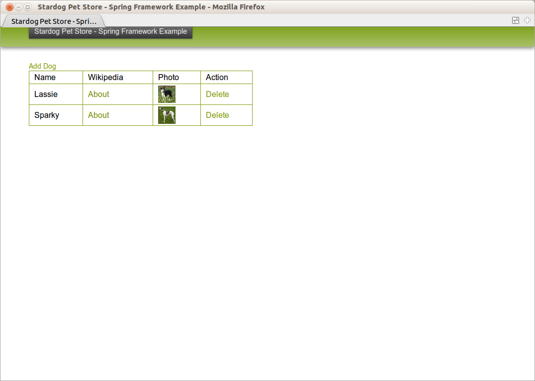 Linked java stardog and spring framework example default list of dogs in the store xflitez Gallery