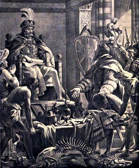 Vasco da Gama apresenta a Dom Manuel as primícias da Índia