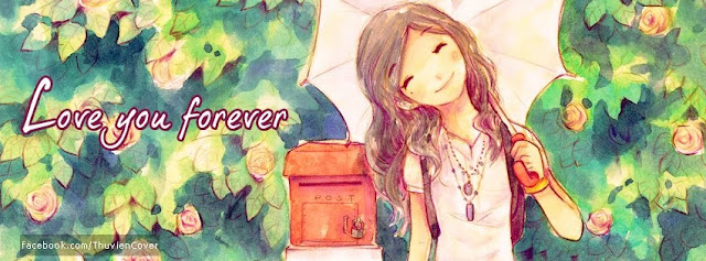Anh bia Facebook, Cover FB, anh bia cap doi dang yeu, love you forever