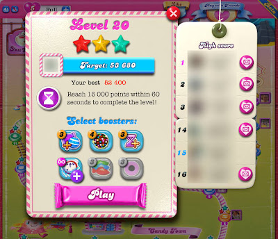Getting 3 Stars on Candy Crush Saga's Timed Levels