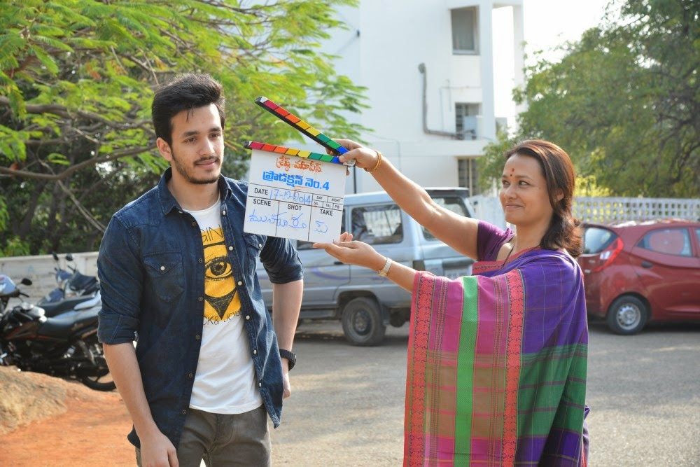 Akhil Akkineni and VV Vinayak movie launch photos