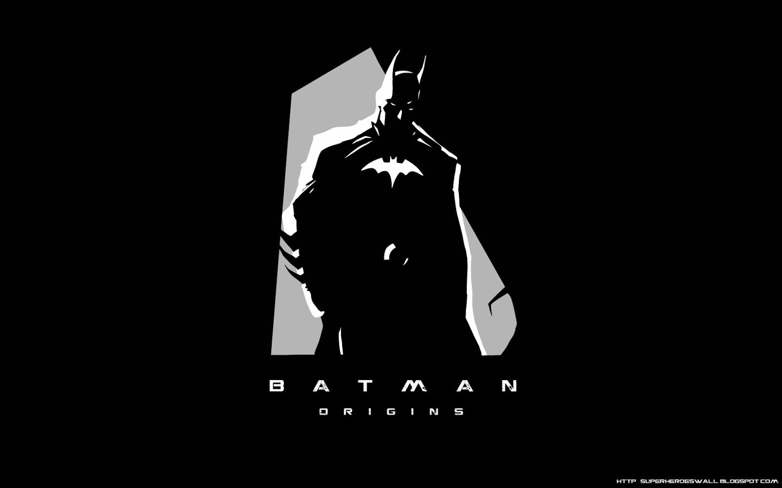 super heroes wallpaper: batman origins hd wallpaper desktop