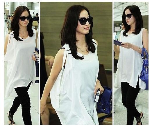 Chic And Blessed Stars 39 Airport Style Kim Tae Hee 39 S Fashion At The Airport