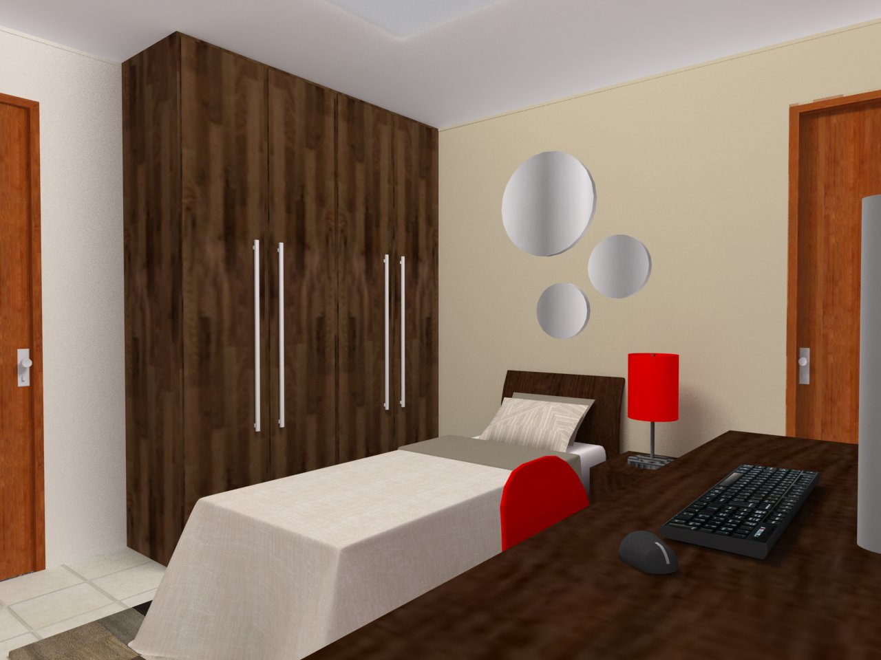 decoracao de interiores quartos de solteiro : decoracao de interiores quartos de solteiro:Design, Decoração, Design de interiores: Projeto Quarto de solteiro