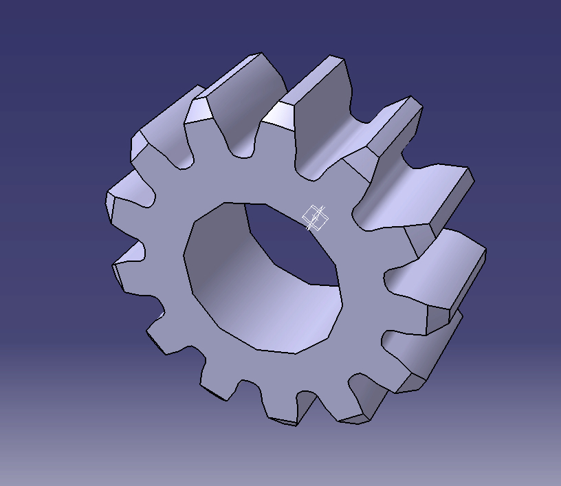 How to draw gears in catia