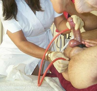 Man to man retention enema