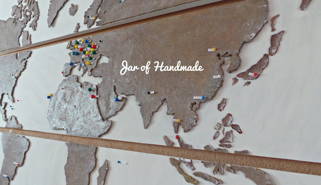 Jar Of Handmade DIY Personalized World Map For All Travel Lovers