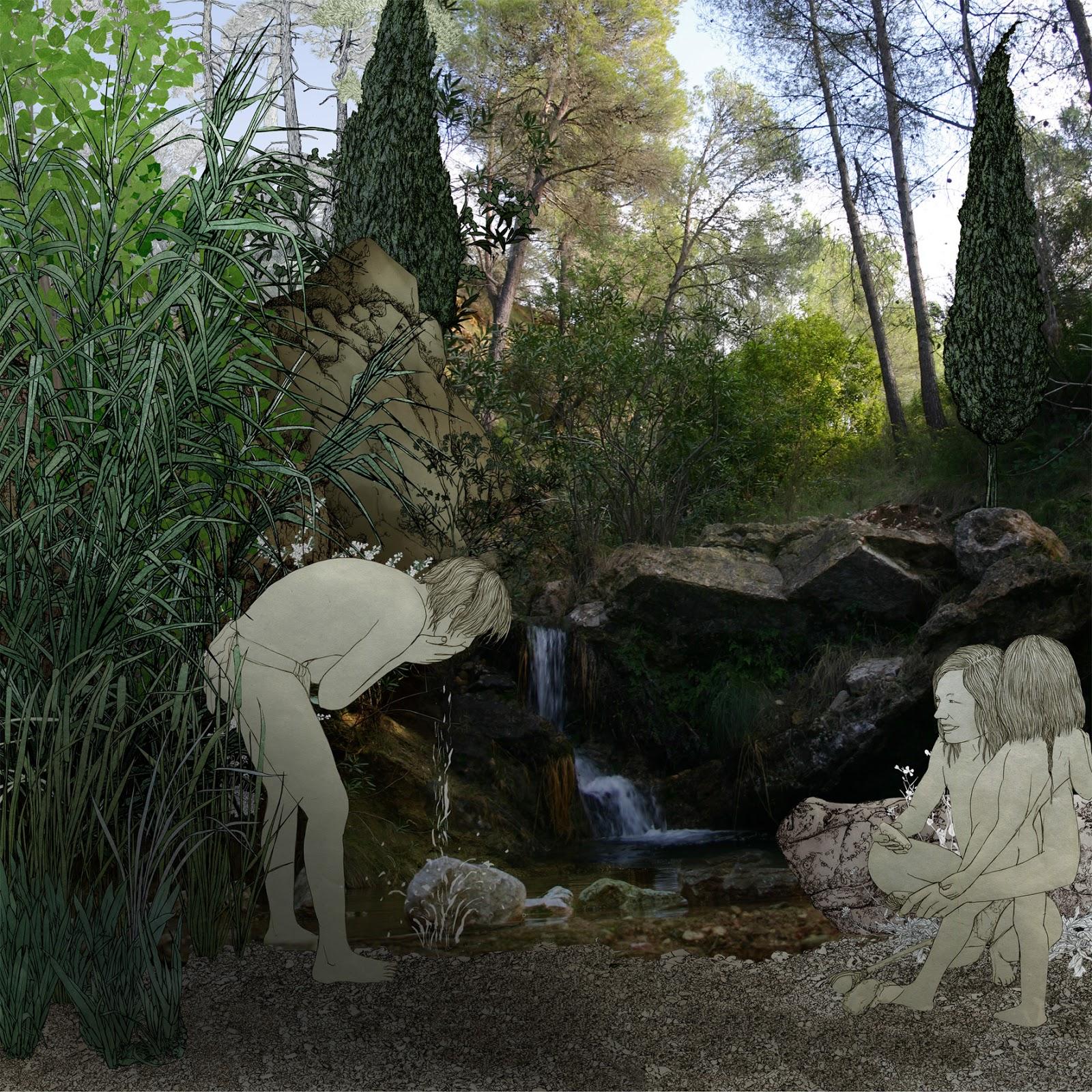 prehistoria, agua, dibujo