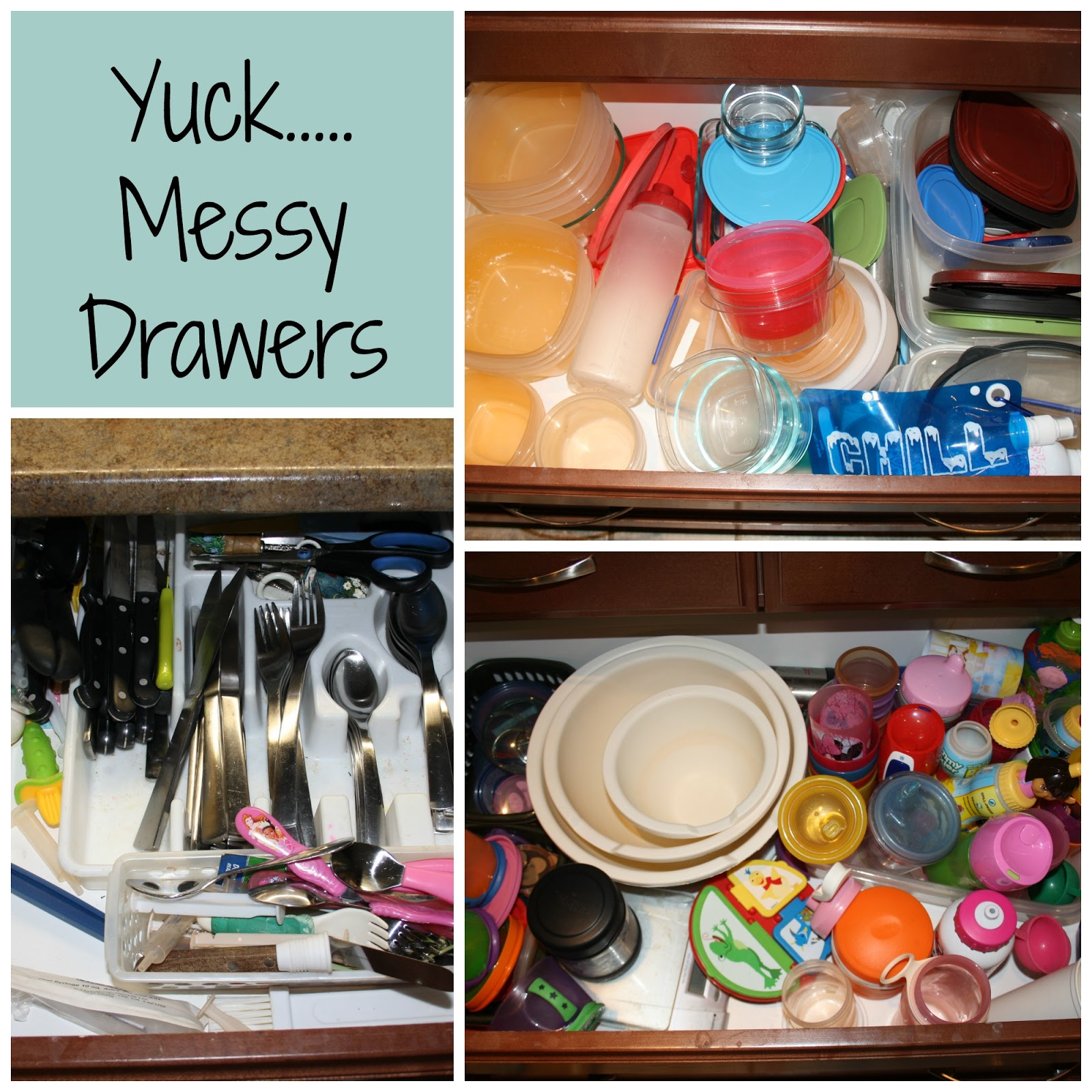 Messy Kitchen Drawer: The First Thing I Did Was Clear Things Out