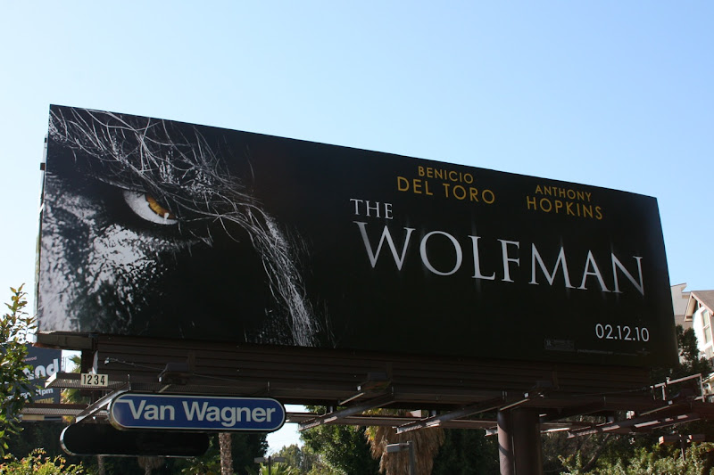 The Wolfman 2010 remake billboard