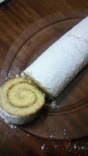 Recette du gâteau roulé sans gluten réalisé par Oumi Ana Aftakidouki Demmani
