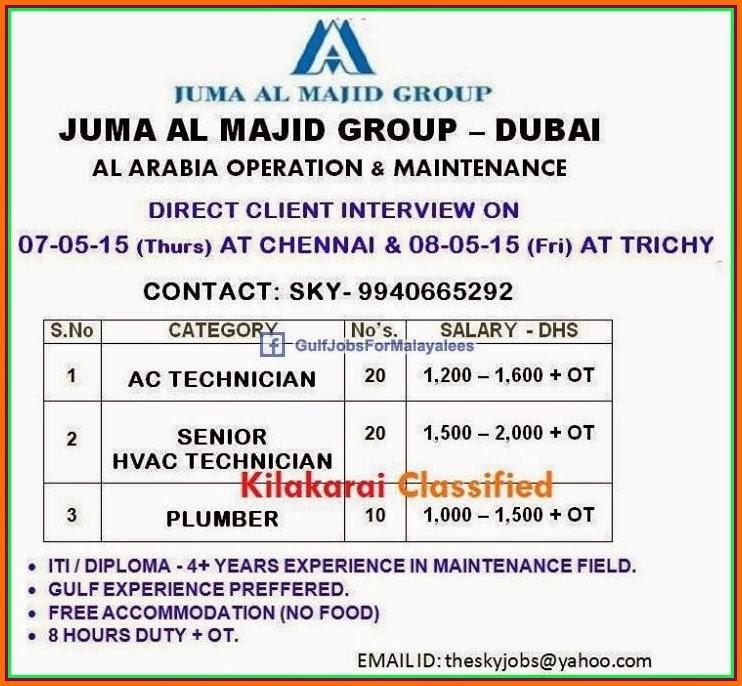 Dubai in job resume vacant