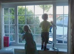 Making Chores fun and cleaning the windows