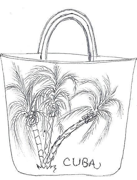 paper bag coloring page name cuba palm tree beach bagjpg 441x578