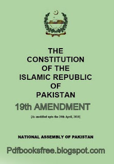 The Constitution of Pakistan 19th amendment English version Free Download