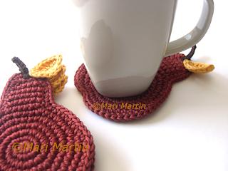 Crochet Coasters Cinnamon Pear