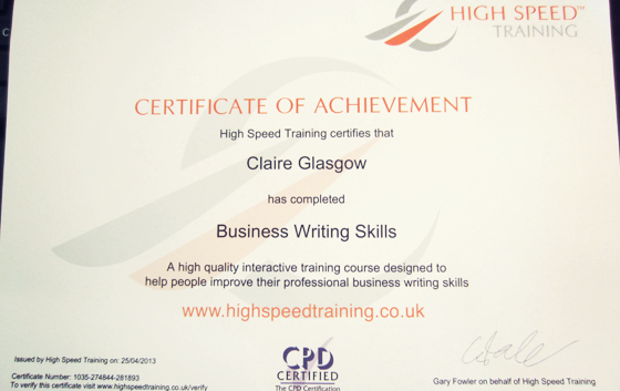 High Speed Training Course
