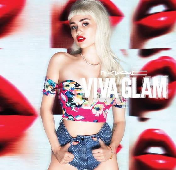 Miley Cyrus shows slim physique for the MAC Viva Glam Fall/Winter 2015 Campaign