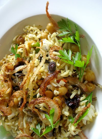 chickpea wild rice salad