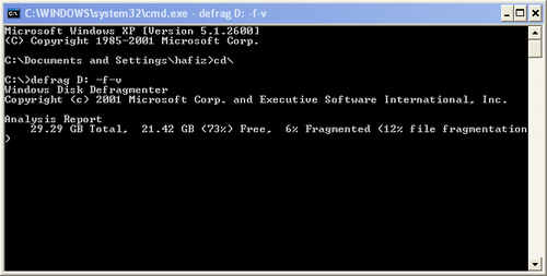 how to repair hard drive from command prompt