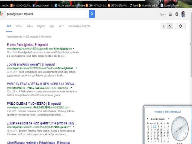 Primeros lugares en Google al 25 de Febrero de 2016, con artículos de hace un año. Ejemplo.