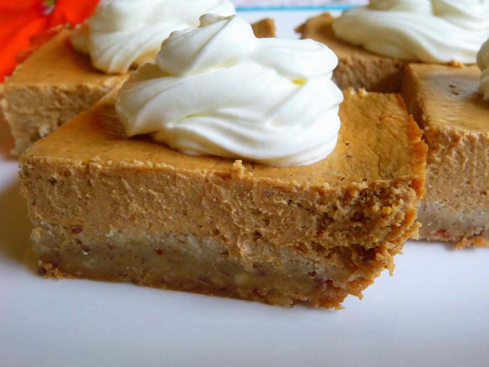 SOUR CREAM PUMPKIN CHEESECAKE BARS