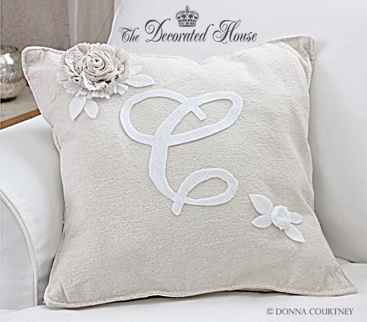 Monogram A Pillow: How To Make A Pottery Barn Style